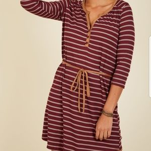 Modcloth Henley Striped Dress